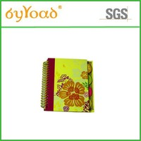 Promotional new design A4 spiral stationery notebook with dividers