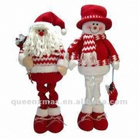 Extendable Santa Snowman Fabric Christmas Decoration