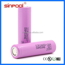 Li-ion Battery Samsung 18650 2600 for LED Torch, Samsung ICR18650-26H Protected