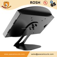 45 degrees tiling L shaped free standing on desk 360 degrees Swivel Universal Adjustable Desk exhibition stand for tablet
