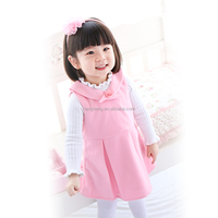 80125 new model girl dress A line baby dress sleeveless pink dress guangdong