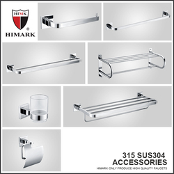 SUS304 stainless steel bathroom duoble towel bar