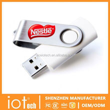 Custom Logo Swivel USB Memory Sitck