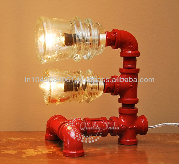 Red Pipe Lamp : Red color industrial style pipe lamp buy