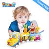 cheap plush toys train set ,plush fabric for making soft toys ,train toys AZO 6P EN71 ASTM HX7120