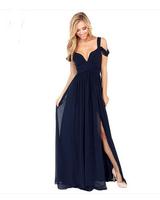2015 Women Fashion Apparel Customized Sleeveless Bandeau Blank Color Chiffon Maxi Women Party Dresses