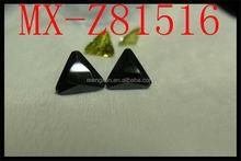 wholesale artificial triangle trillion 6*6mm black zircon
