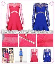 2014 nueva llegada el precio de fábrica de pestañas caliente estilos de las señoras vestido de mujer sexy