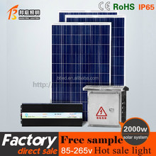 1500W solar system/ mini projects solar power systems for home use