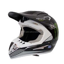 High quality green and black dirt bike full face helmet