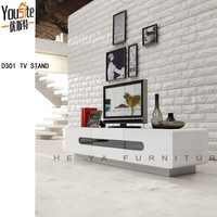 Modern high gloss white design plasma glass tv cabinet for sale