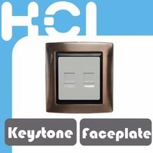 Taiwan RJ45 Metal Cellular Faceplate with Door