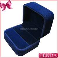 Cheap hot sale promotion small ring box with velvet interior
