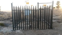 Factory price Galvanized metal security fence/ iron palisade fence