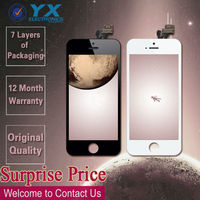 LCD Display+Glass Touch Screen Digitizer Assembly Repair for iPhone 5g Black