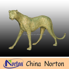 lifesize hand work bronze Big Cat statue NTBA-C048C