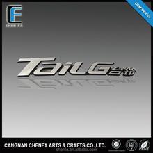 Custom 3D chrome alphabet letter sticker car tail logo for car and motorcycle