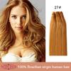 Wholesale Grade 7A Unprocessed No Split Ends Natural Blonde No Shedding Raw Cheap Virgin Russian Wavy Hair