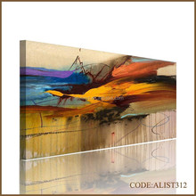 Handpainted hot sales modern abstract oil painting of colorful for home decortion