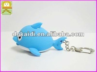 newest design dolphin shape 3d mobile phone key chain