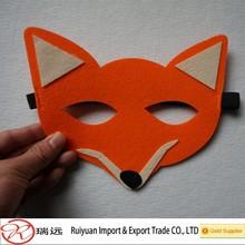 2015 Alibaba China animal shaped custom felt decorative mask for children
