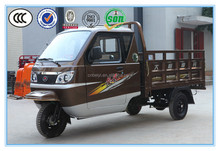 Chongqing manufacture 110cc three wheel tricycle cargo adult tricycle with motor enclosed cabin tricycle