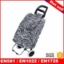 Hand shopping trolley canvas duffle travel bag