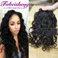 Luxury Top Quality Unprocessed factory price indian 3 bundles 26inch Italian Curl wave hair extension