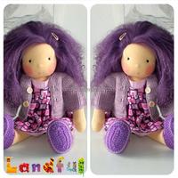 4'' Long Dark Purple DDUNG BJD MONSTER Hair DIY Doll Hair Wigs