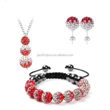 personalized shamballa inspired bracelets set