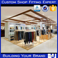 clothing display furniture with LED lighting for retail store