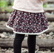 New Winter Kid Girl Floral Skirt Winter Kid Clothes Boutique Cotton Dress