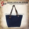 hot sale classical tote bag canvas leather ,spring summer 2014