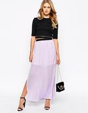 colorido faldas largas con split de gasa falda maxi largo patrón falda de gasa