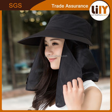 Protective removable outdoor spring summer sun hat for men and women