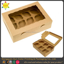 Kraft paper cupcake box brown cupcake boxes custom cupcake boxes wholesale