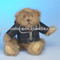plush animal shaped stuffed toy with clothes