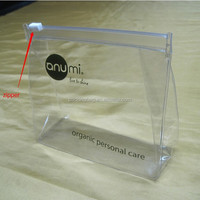 REACH standard low price soft plastic transparent clear PVC bag with your logo