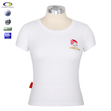 2015 Cheap bulk White cotton round neck t-shirt production