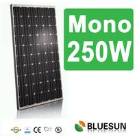 Bluesun high quality low price mono solar panels 24v 250w