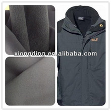 gore-tex fabric bonded with polar fleece for outdoor jacket