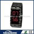 publicidad reloj de pulsera reloj led de hierro samurai hombre reloj led