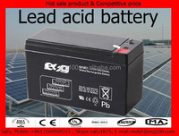 Rechargeable 12V 7AH sealed lead acid battery for security system and Emergency light