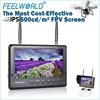 High brightness 600nits non blue screen IPS panel led lcd fpv monitor rf av input inside battery 5.8ghz receiver 32ch phanton 3