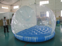 3m 9.8 foot Giant inflatable Clear snow globe Bubble House Santa Claus Background