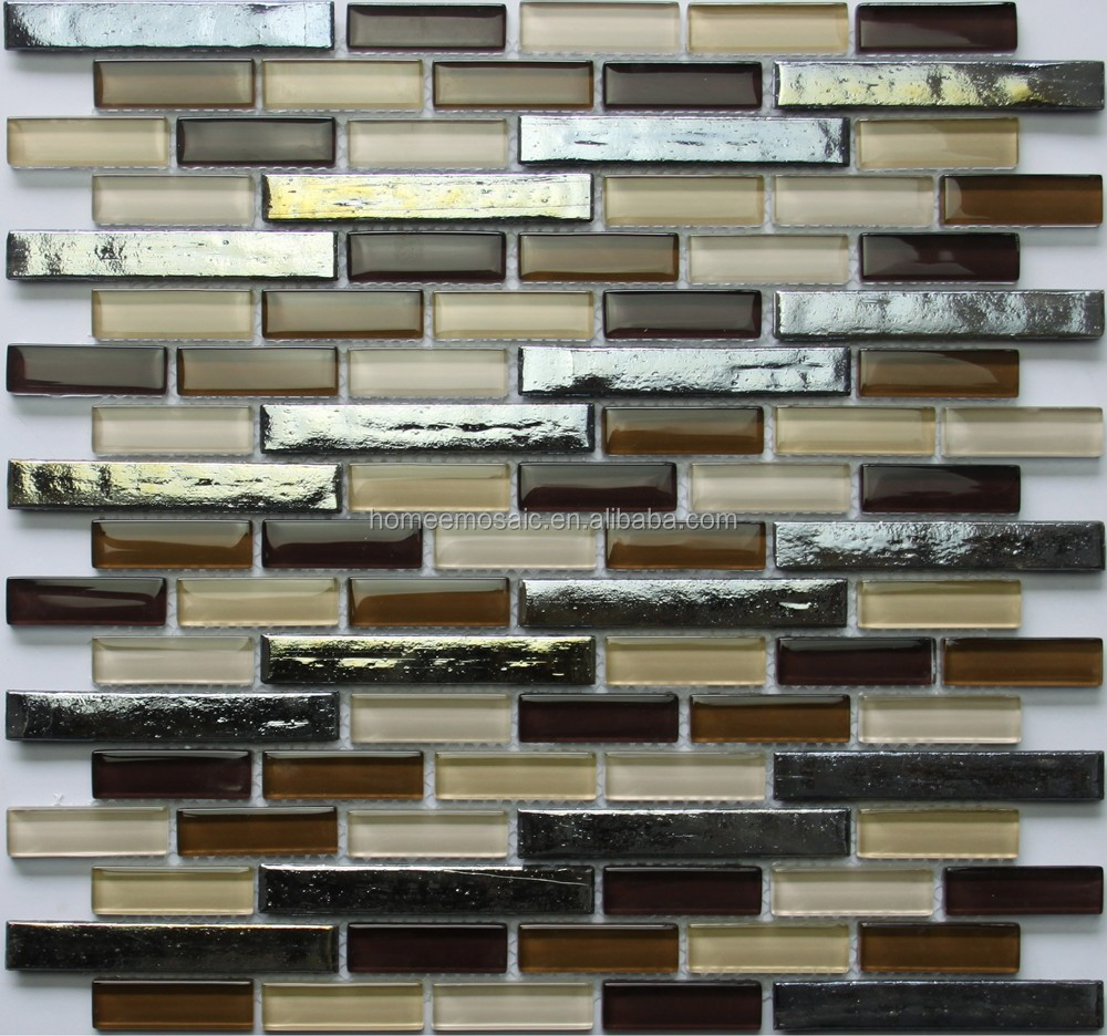 backsplash decorative metal mix glass mosaic tile buy metal mix