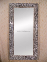 Modern Decorative Full Length Wall Mounted Dressing Mirror With Glass Mosaic Frame BF02-M279
