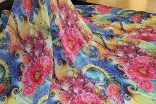 2015 new design chiffon maxi dresses/printed chiffon dress/chiffon scarf