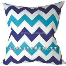 Large Size Soft Blue and White Line printed Indoor Easy Chair Cushion