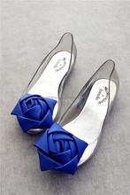 Novo estilo de moda geléia de rosas sandálias flat sapatos de geléia cabeça de peixe de plástico sapatos de vidro